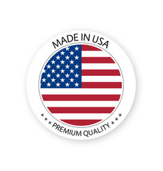 Modern made in usa label vector