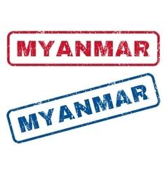 Myanmar rubber stamps vector