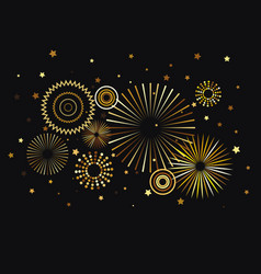 new year fireworks decoration festive background vector image