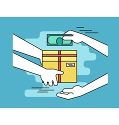 Payment by cash for express delivery vector image