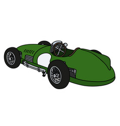Retro green racing car vector