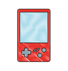 retro video game console portable vector image
