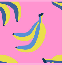 seamless pattern with banana in sketch style vector image