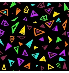 Seamless pattern with colorful triangles vector image