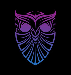 shield owl vector image