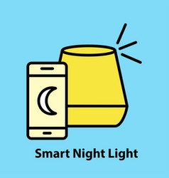 smart night light vector image
