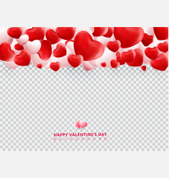 soft and smooth red and white valentines day vector image