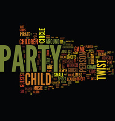 ten classis kids party games with a twist text vector image