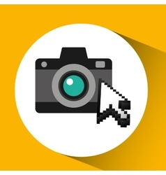 Traveling concept technology camera photo design vector