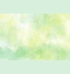 Yellow and green watercolor background for spring vector