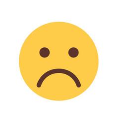 Yellow cartoon face sad upset emoji people emotion vector