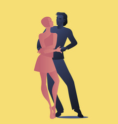 Young couple dancing latin music bachata salsa vector