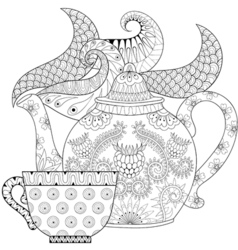 Zentangle stylized ornamental vector