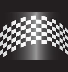 checkered curve gray gradient design race sport vector image vector image