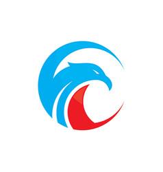 circle eagle heads logo image vector image