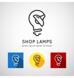 Concept logo lamps lamp shop vector image vector image