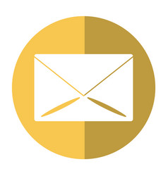 email message mail button shadow vector image