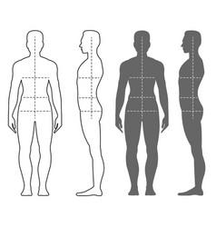 fashion man silhouette vector image