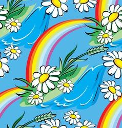spring rainbow seamless vector image vector image