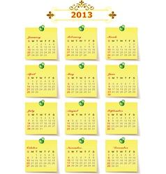 2013 Year calendar vector image vector image