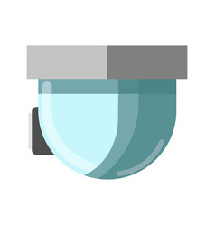 cctv glass technological device and attached to vector image vector image