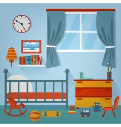 Children Bedroom Interior Child Furniture and Toys vector image