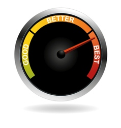 Good better best meter vector image