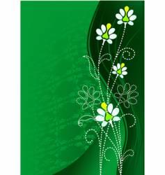 green flower vector image vector image