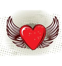 grunge valentine background vector image vector image