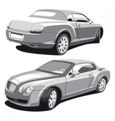 luxury car gray vector image vector image