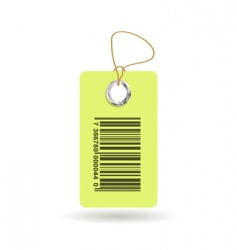 tag with bar code vector image vector image