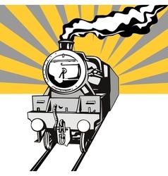 Vintage Train Retro vector image