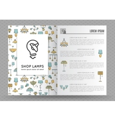 Brochure for shop lamps lamp icon vector image vector image