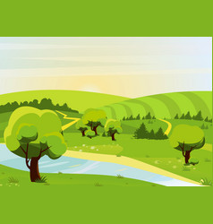 cartoon flat style of vector image vector image