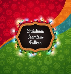 christmas seamless pattern with chalkboard vector image vector image