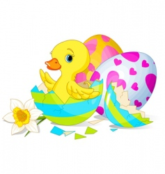 easter surprise vector image