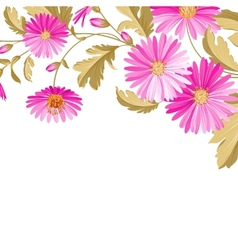 Flower background with violet flowers vector image vector image
