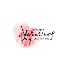 for valentines day heart painted vector image vector image
