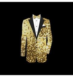 luxurious gold tuxedo vector image