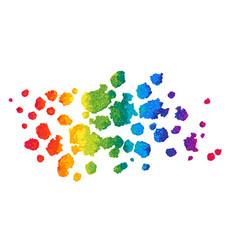 rainbow watercolor background vector image vector image