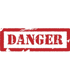 Rubber stamp with text danger vector image