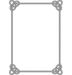 sea knot frame vector image