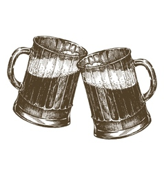 beer mug ship logo design template vector image