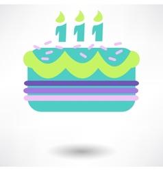 Birthday cake web icon vector image vector image
