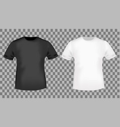 black and white t-shirt template vector image