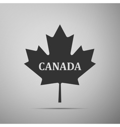 Canadian maple leaf with city name Canada flat vector image vector image