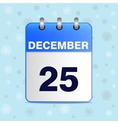 Christmas calendar icon vector image vector image