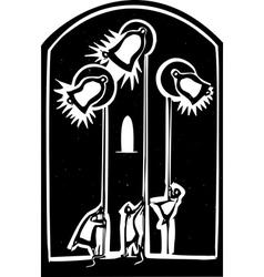 Church Bells vector image vector image