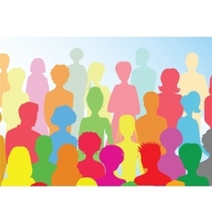 Colorful crowd vector image vector image