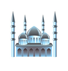 Mosque icon isolated on white vector image